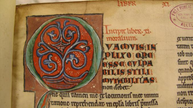Figure 5, Auckland Libraries, Sir George Grey Special Collections, Med. MS G.132, initial on first folio