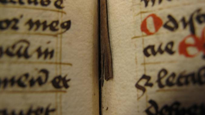 Auckland Libraries MS G. 185 - straw book marker