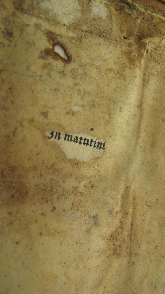 Auckland, St. John's College MS 1 - Fragment of early printing